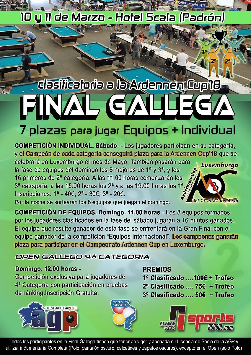 Final Gallega 2018 clasificatoria Ardennen Cup