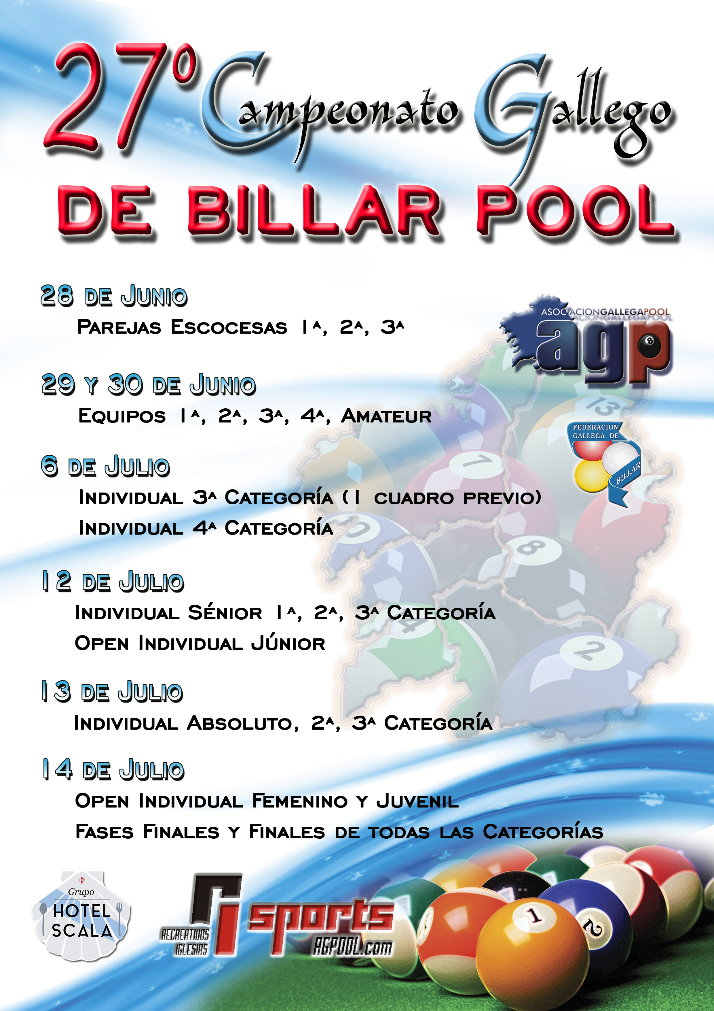 27º CAMPEONATO GALLEGO DE BILLAR POOL 2019
