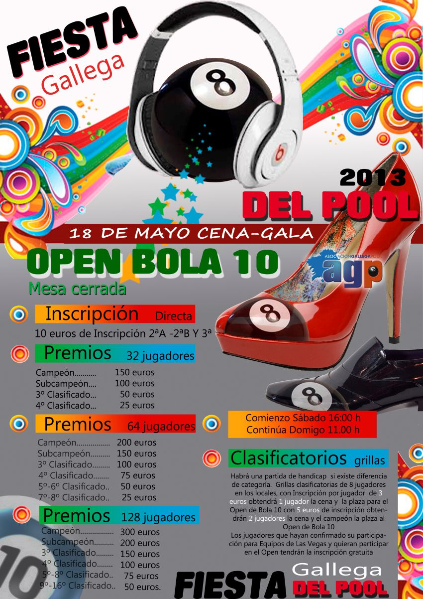 Fiesta Gallega del Pool 2013 y Open de Bola 10